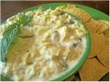 Healthy Warm Artichoke Dip