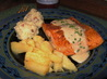 Broiled Salmon With Garlic Sauce