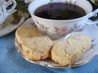Almond-Orange Shortbread. Recipe by Caroline Cooks
