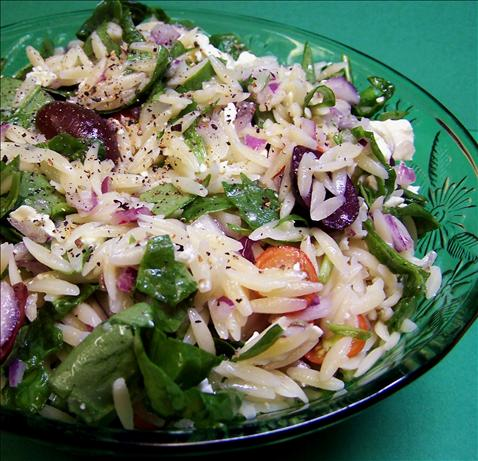 Greek Orzo Salad W/ Kalamata and Feta. Photo by PaulaG