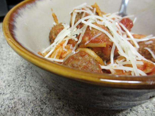 Crock Pot Spaghetti and Meatballs. Photo by megs_