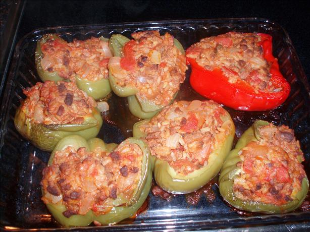 Boca Crumbles Vegetarian Stuffed Bell Peppers. Photo by Kiwiwife