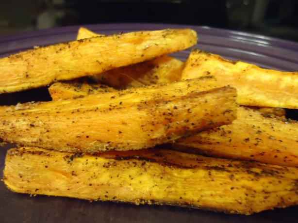 "Spicy Baked Sweet Potato ""fries"". Photo by LifeIsGood"