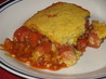 Baked Bean Corn Dog Casserole. Recipe by Carrie A
