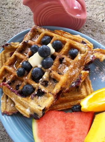 Blueberry Buttermilk Waffles. Photo by Cookgirl