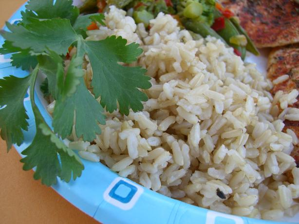 Alton Brown's Baked Brown Rice. Photo by Chef*Lee