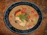 African Style Chicken Peanut Soup With Potatoes. Recipe by Kittencalskitchen