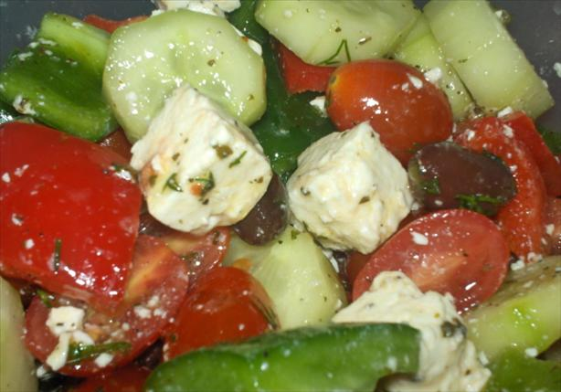 Ultimate Greek Salad With Cherry Tomatoes. Photo by Alskann