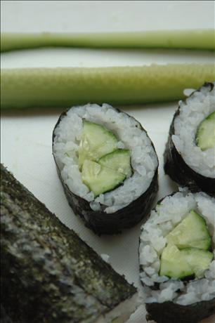 Kappa Maki (Cucumber Sushi). Photo by Ingy