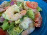 Shrimp Salad With Avocado, Celery and Red Onion