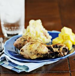 Crock Pot  Super Garlic Chicken Legs. Photo by Dine & Dish