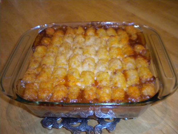 Chili Tater Tot Casserole. Photo by SweetSueAl