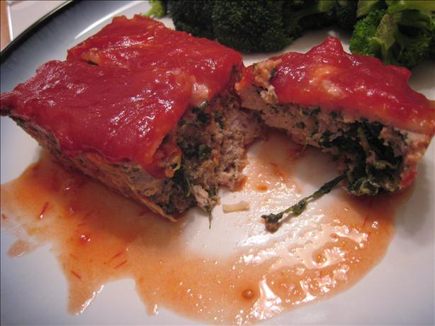Turkey Meatloaf With Spinach and Bacon. Photo by yogiclarebear