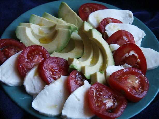 Mozzarella Avocado and Tomato Salad in Vinaigrette. Photo by kiwidutch