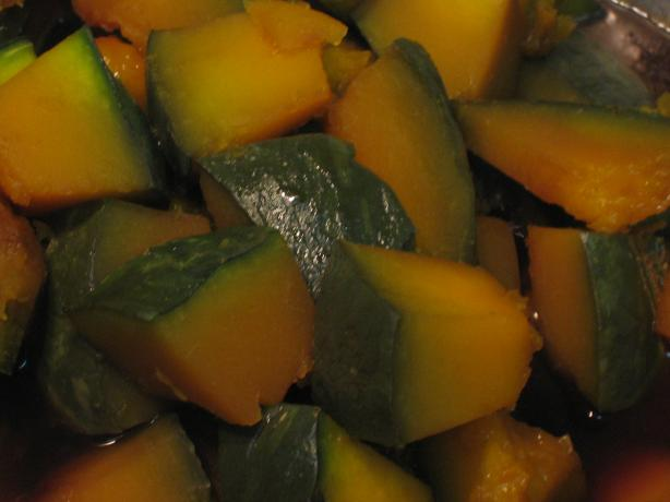 Japanese Style Simmered Sweet Kabocha. Photo by brokenburner