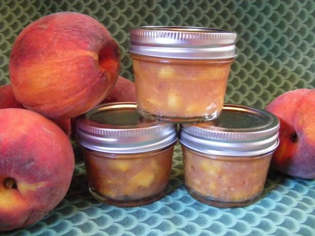 Peach Freezer Jam. Photo by Seasoned Cook