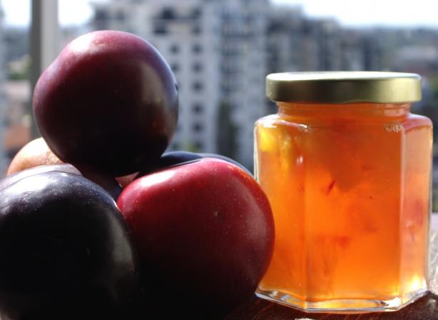 Microwave Ginger Plum Jam. Photo by AmandaInOz
