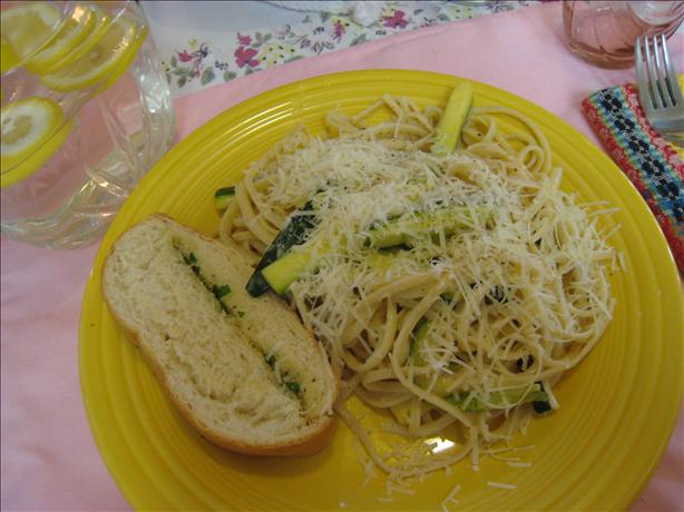 Linguine W/ Creamy Zucchini Sauce. Photo by hisfavoritemavis