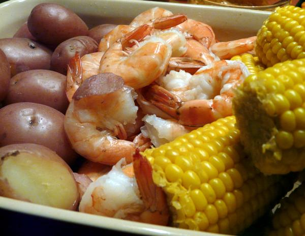 Shrimp Boil Dinner. Photo by PaulaG