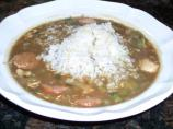 Reduced Fat Chicken and Sausage Gumbo