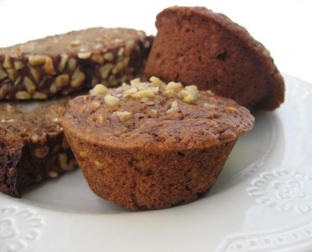 Molasses-Oat Banana Bread or Muffins (Lower Fat). Photo by averybird