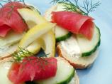 Open-Faced Salmon Tea Sandwiches
