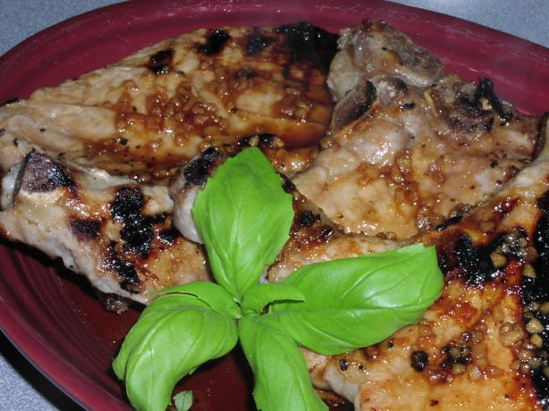 Ginger-Honey Glazed Barbecued Pork Chops. Photo by TeresaS