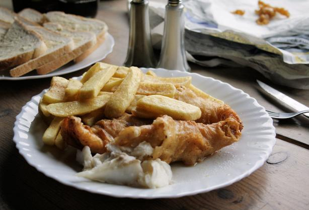 Real English Fish and Chips in Beer Batter
