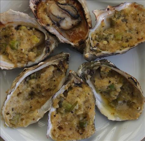 BBQ Oysters With Ginger. Photo by Peter J