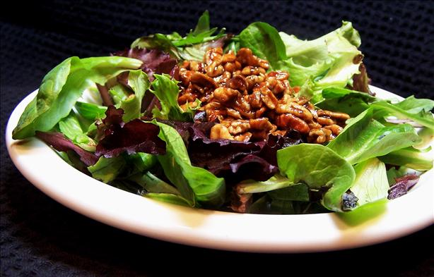Southern Greens With Warm Pecan Dressing. Photo by PaulaG