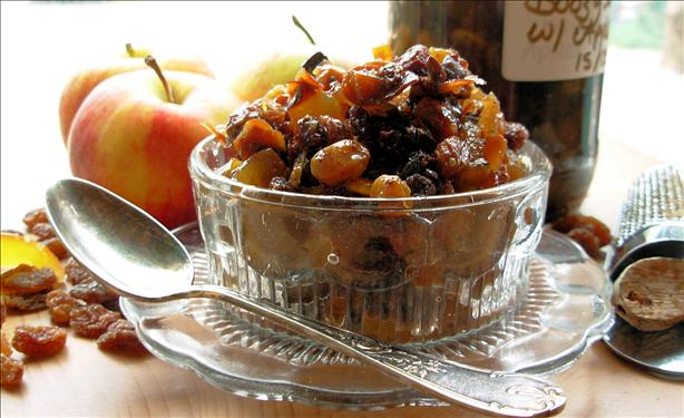 Boozy fat-free mincemeat,