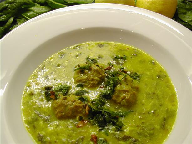 Middle Eastern Lamb and Spinach Soup. Photo by Syrinx