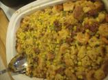 Sausage and Shrimp Cornbread Stuffing Casserole