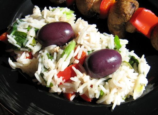 Mediterranean Rice Salad. Photo by Annacia