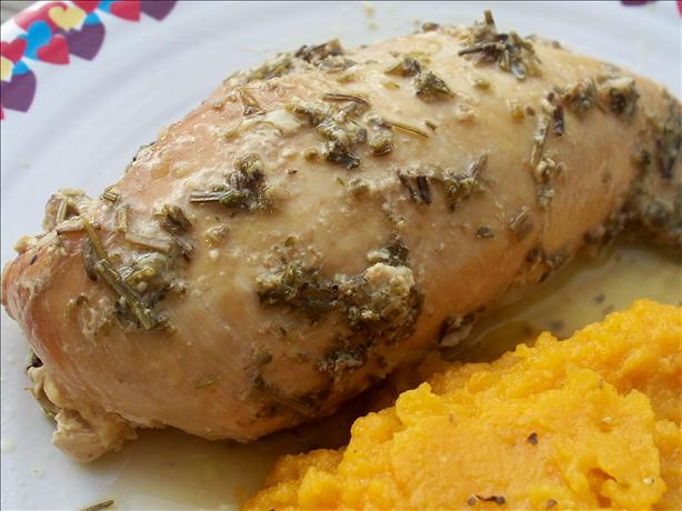 Crock Pot Garlic-Rosemary Chicken Breast. Photo by *Parsley*