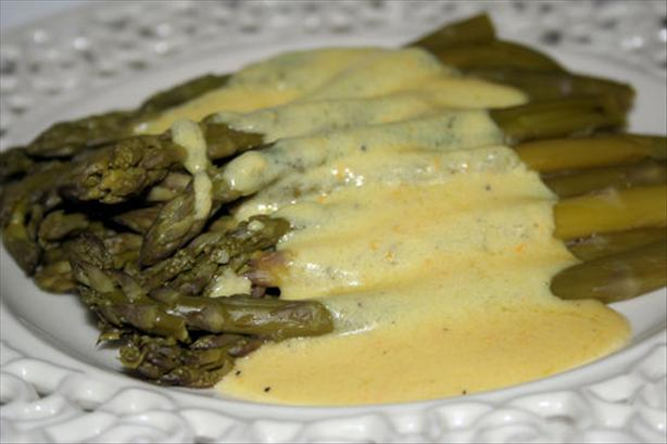 Asparagus in Creamy Orange Maltaise Butter Sauce. Photo by ~Nimz~