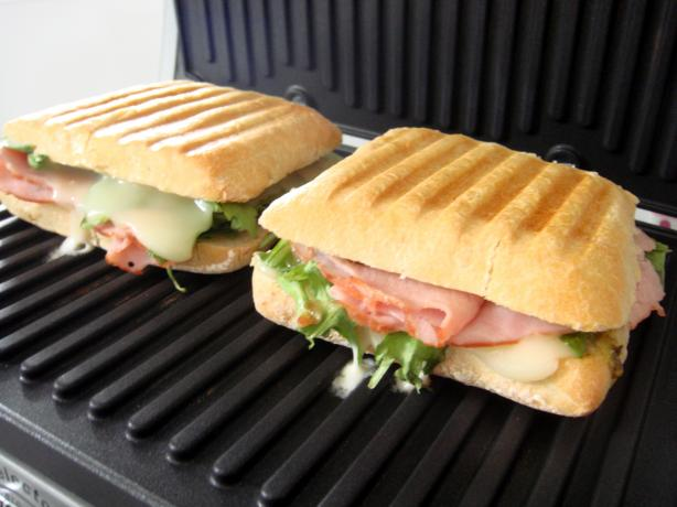 Preposterously Paradisiacal Panini. Photo by Lori Mama