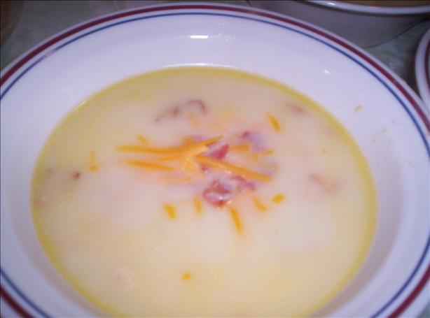 Loaded Baked Potato Soup (Gluten Free). Photo by GlutenFreeGirl