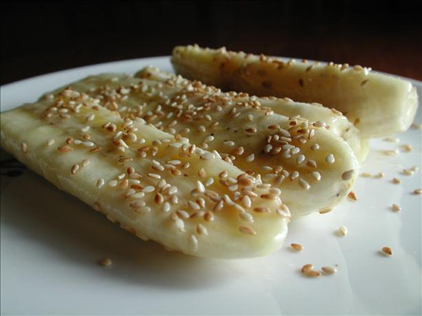 Sweet Sesame Bananas. Photo by Chef floWer
