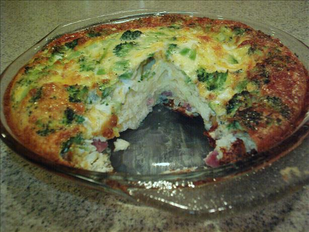 Crustless Ham and Cheese Quiche. Photo by Kim127