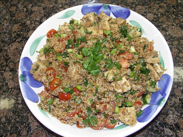 Chicken With Tabbouleh (Barefoot Contessa) Ina Garten. Photo by Juenessa