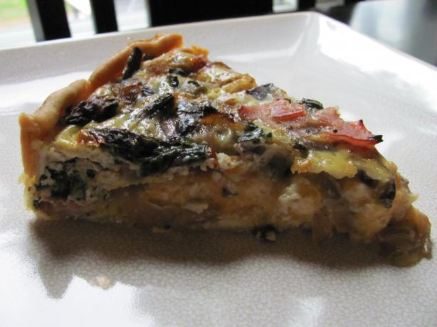 Asparagus Mushroom Bacon Quiche. Photo by under12parsecs