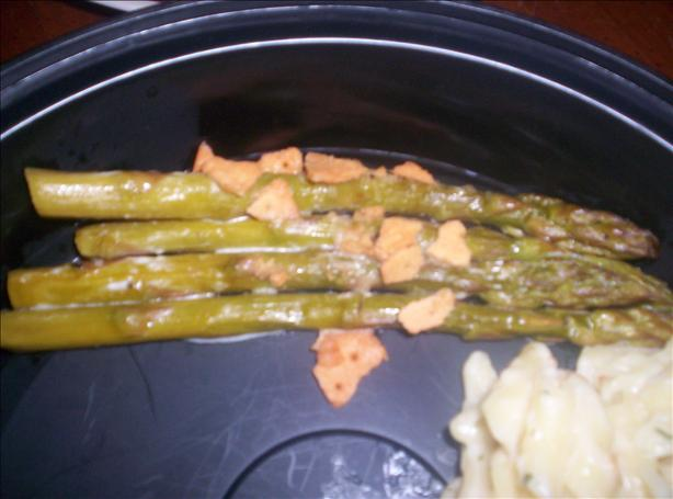 Easy Creamy Baked Asparagus (Gluten Free). Photo by GlutenFreeGirl