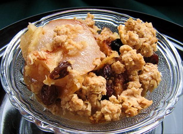 Apple and Pear Crumble. Photo by Annacia