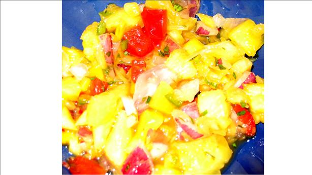 Mango-Pineapple Salsa. Photo by Shannon Cooks