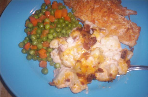 Creamy Cauliflower Casserole With Bacon and Cheddar. Photo by Chef shapeweaver ©