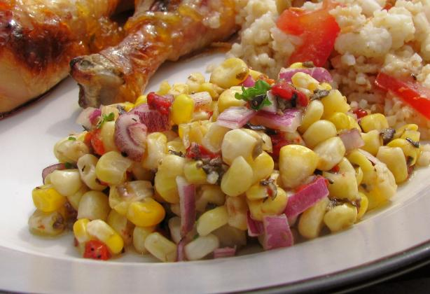 Valencia Corn Salad. Photo by lazyme