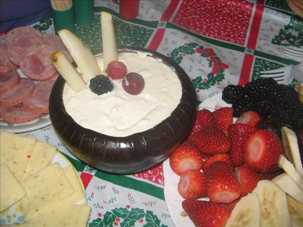 Easy Cheesy Fruit Dip. Photo by Princess Jasmine