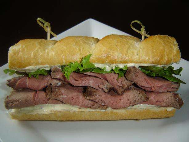 Beef and Horseradish Sauce Sandwich. Photo by karenury