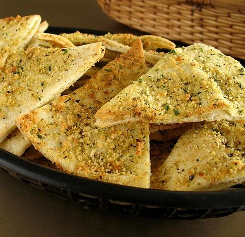Parmesan Pita Chips. Photo by Calee